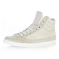 White sports high tops