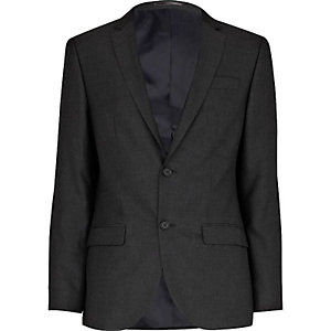 Grey charcoal skinny suit jacket