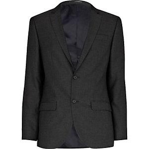 Grey charcoal skinny suit jacket