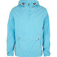 Blue overdye hooded jacket