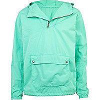 Green overdye hooded jacket