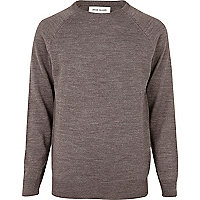Light brown elbow patch jumper