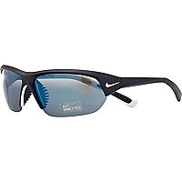 Blue Nike sports wrap sunglasses