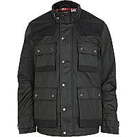 Black four pocket jacket