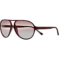 Dark red Police aviators