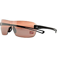 Brown Adidas large visor sunglasses