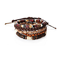 Brown wrist beads
