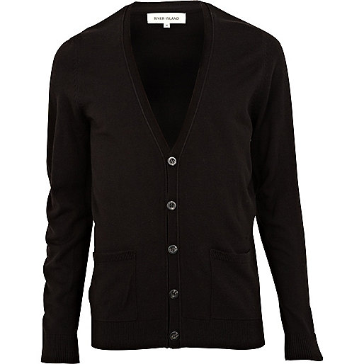 Black V neck cardigan