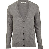 Light grey acrylic cardigan