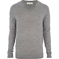 Light grey acrylic jumper