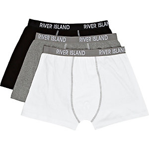 Grey RI print boxer shorts pack