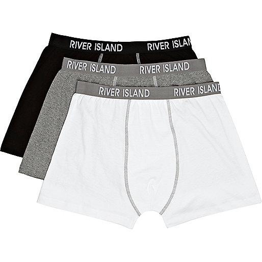 Grey river island print boxers