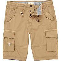 Light brown cargo shorts