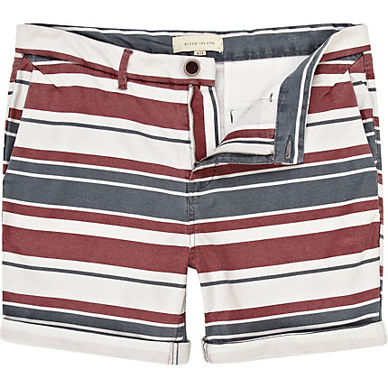 Blue multi stripe shorts