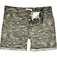 Brown tiger print shorts