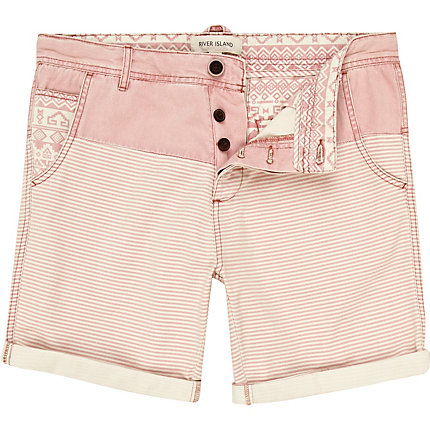 Pink stripe and aztec shorts