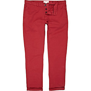 Red fire slim chinos