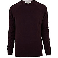 Dark purple elbow patch jumper