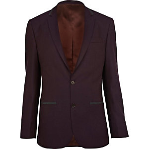 Dark purple suit jacket