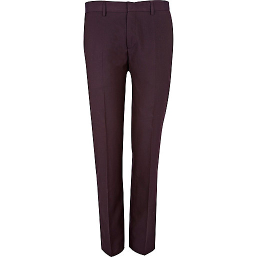 Dark purple suit trousers