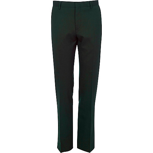 Green suit trousers