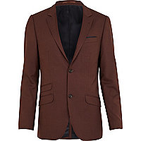 Dark rust suit jacket