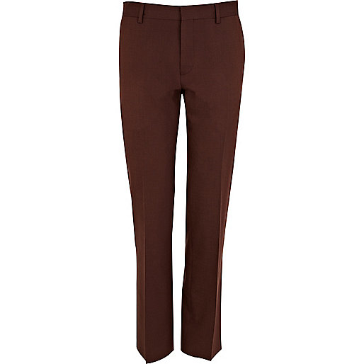 Dark rust suit trousers