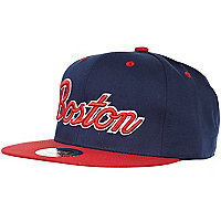 Navy boston snapback
