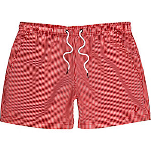 Red stripe swim shorts