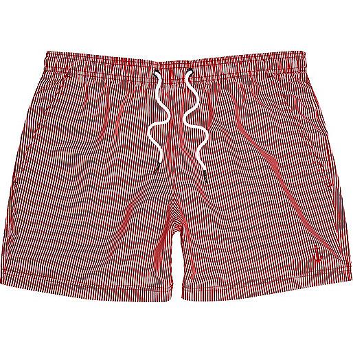 Red stripe swim shorts