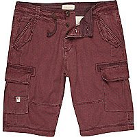 Berry red print shorts