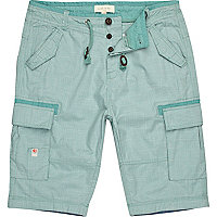 Green window check shorts