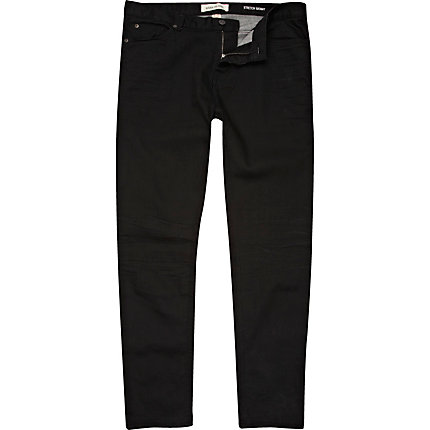 Black coated Sid skinny stretch jeans