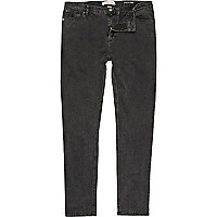 Black denim Sid stretch skinny jeans
