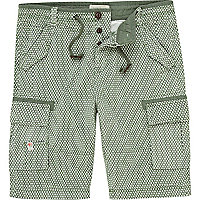 Green pattern shorts