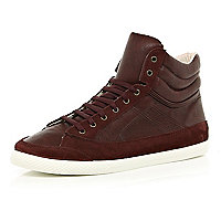 Dark red high tops