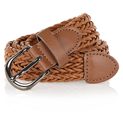 Light brown woven belt