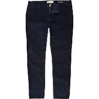 Blue corduroy stretch skinny trousers