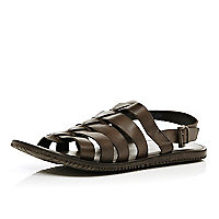 Dark brown gladiator sandals