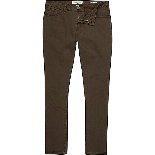 Dark green Sid stretch skinny jeans