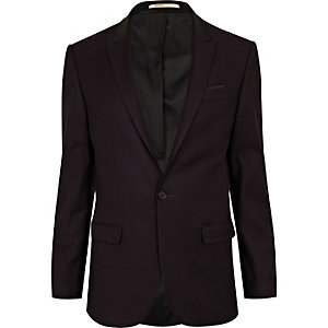 Dark plum suit jacket