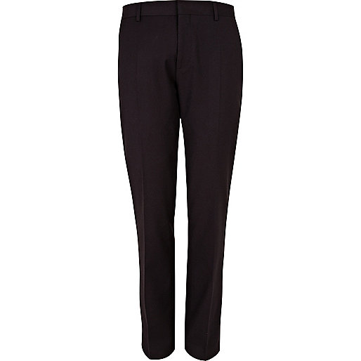 Dark plum suit trousers