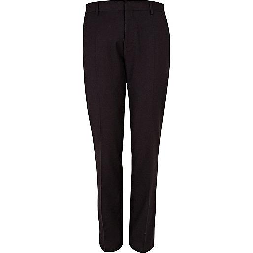 Dark plum suit trousers