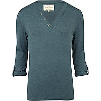 Teal notch neck t-shirt