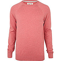 Pink elbow patch jumper