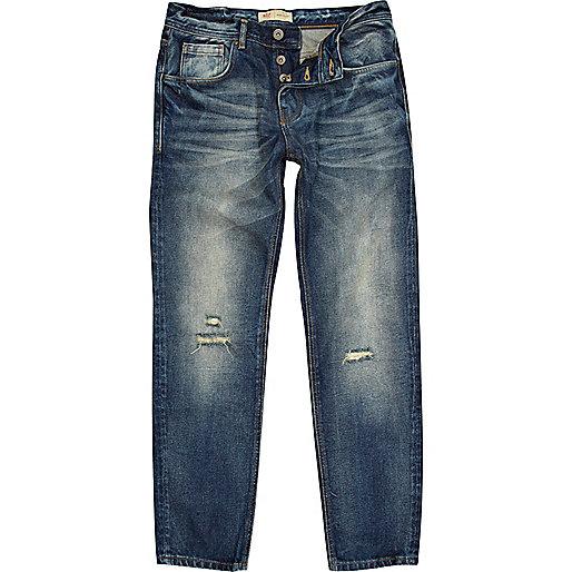 Dark faded wash Dylan slim jeans
