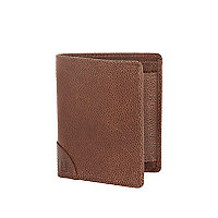 Brown leather textured wallet