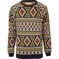 Yellow aztec sweatshirt
