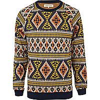 Yellow aztec sweatshirt