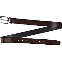 Dark red prong belt